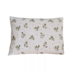 Nude and green cushion cover