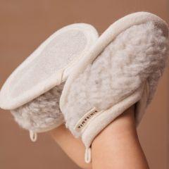 Chaussons en laine enfant gris Binibamba