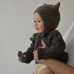Kitty bonnet dark grey Bambolina