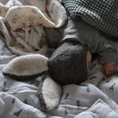 Bunny bonnet dark grey Bambolina