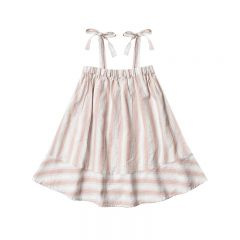 Shoulder tie dress petal stripes Rylee and Cru