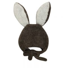 Bunny bonnet dark brown Bambolina