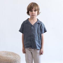 Shirt Oriol baby linen dark grey My Little Cozmo