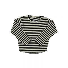Tshirt knit stripe samy black