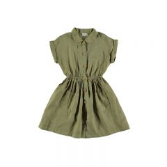 Dress linen sandy khaki My Little Cozmo