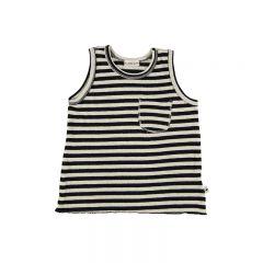 Top knit stripe black