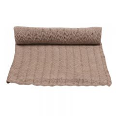 Blanket pointelle deux brown melange Konges Slojd