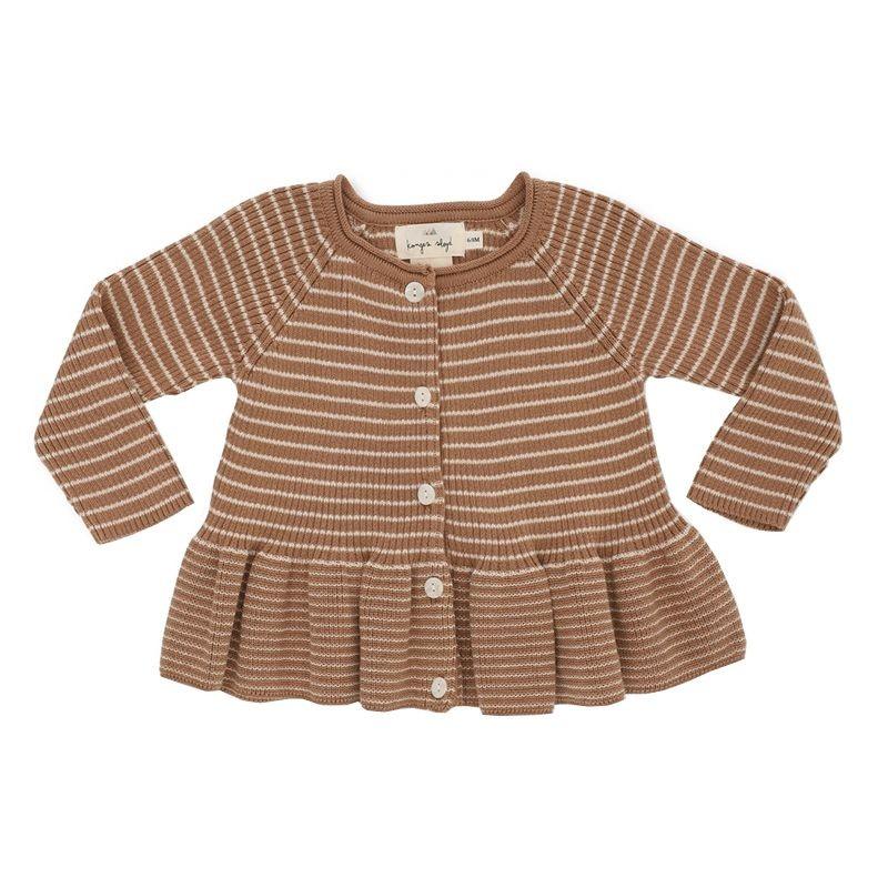 Meo frill cardigan cotton sahara  Konges Slojd