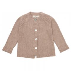Meo cardigan cotton brown melange Konges Slojd