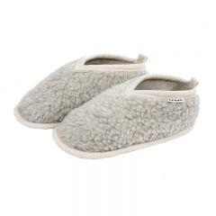 Chaussons en laine femme gris Binibamba