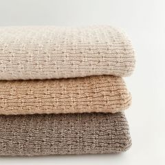 Wool Blanket Dora off-white Hvid