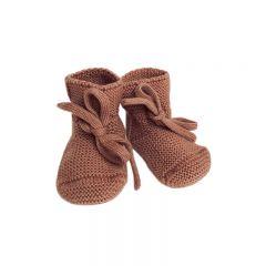 Chaussons en laine brique Hvid