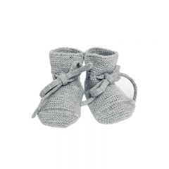 Wool Booties grey melange  Hvid
