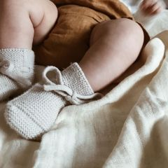 Wool Booties off white Hvid