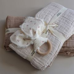 4 pack muslin cloths almond Bonet et Bonet