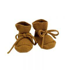 Wool Booties mustard Hvid