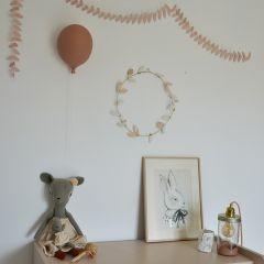 Ballon en céramique vieux rose