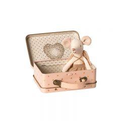 Souris ange gardien dans sa valise Maileg