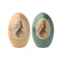 2 Easter eggs metal Maileg