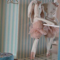 Dancing ballerina bunny in tube Maileg