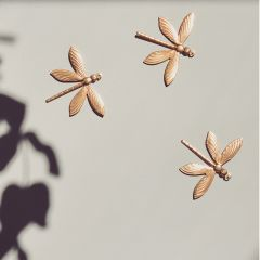 Trio of brass dragonflies Gentil Coquelicot