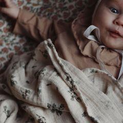Bluebell muslin swaddle blanket Garbo&Friends