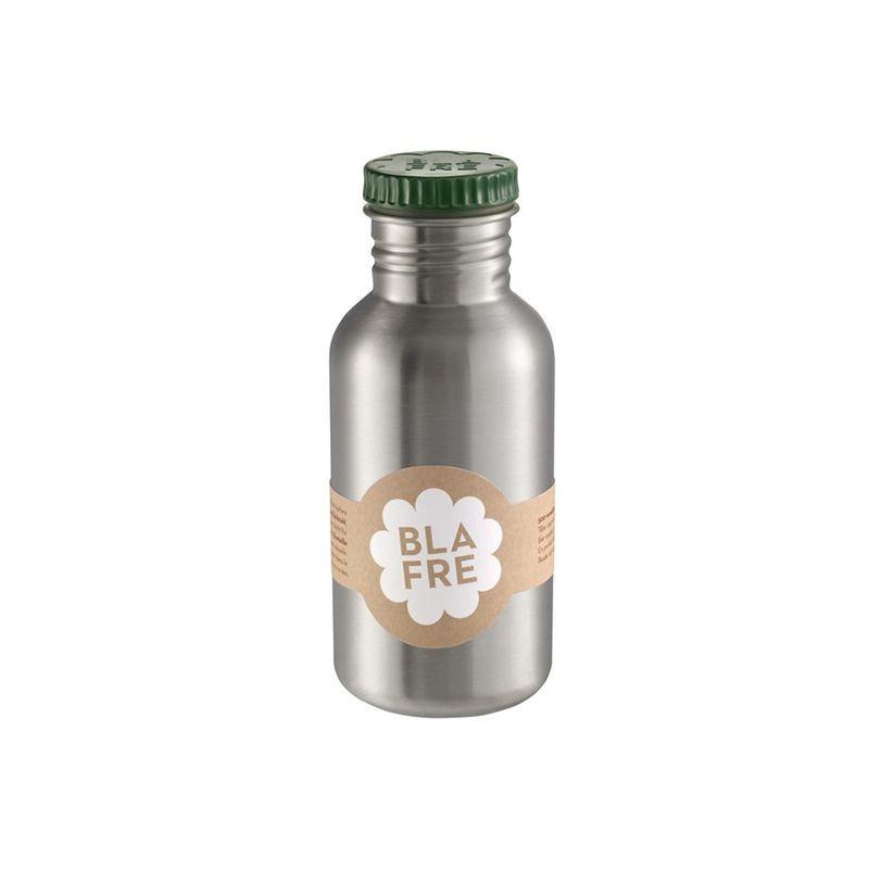 Stainless Steel Water Bottle 500ml dark green Blafre