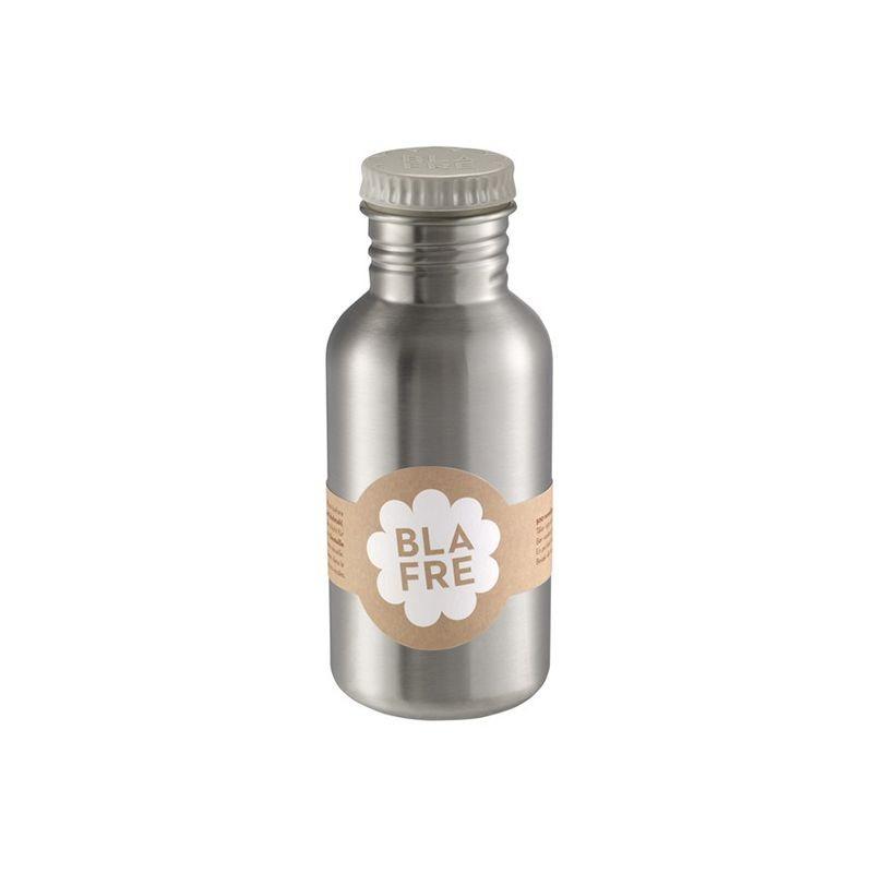 Stainless Steel Water Bottle 500ml grey Blafre