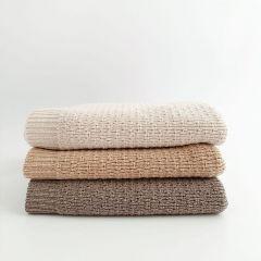 Couverture en laine dora sable Hvid