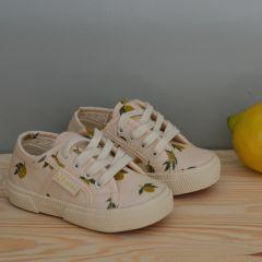 Baskets à lacets Superga citrons Konges Slojd