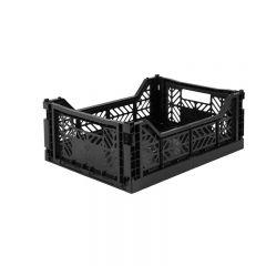 Folding crate midi black Aykasa