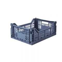 Folding crate midi cobalt blue Aykasa