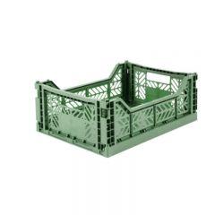 Folding crate midi almond green Aykasa