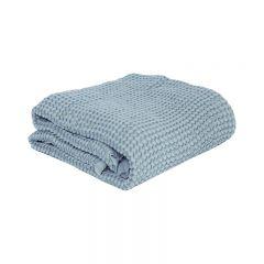Couverture gaufrée minty blue Mallino