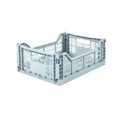 Folding crate midi pale blue Aykasa