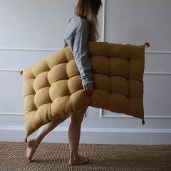 Linen mattress mustard Mallino