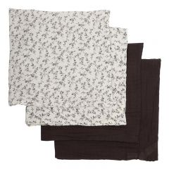 4 pack muslin cloths flower field Bonet et Bonet