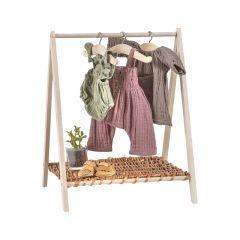 Porte-vêtements en bois Wendy  pour poupées Minikane