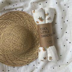 Little swaddle x2 marbella/tonka Bonjour Little