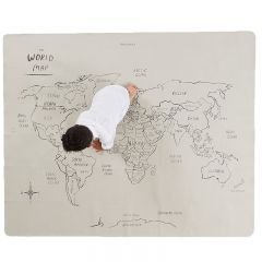 Mat vegan leather midi + worldmap Gathre