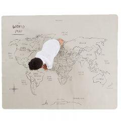 Tapis lavable midi + carte du monde Gathre