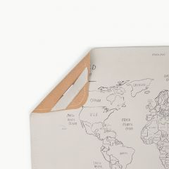 Mat vegan leather micro worldmap Gathre