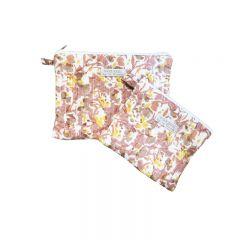 Pack de deux pochettes de voyages Pétales du soleil Inspirations By la Girafe