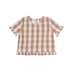 Blouse check cinnamon Rylee and Cru