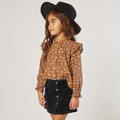Corduroy skirt vintage black Rylee and cru