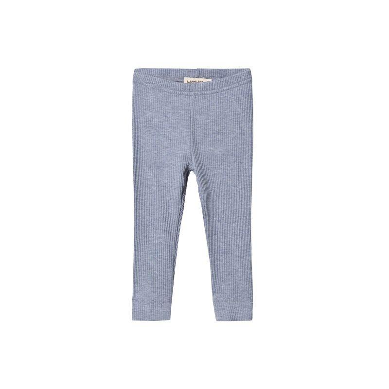 Grey cotton ribbed leggings MarMar