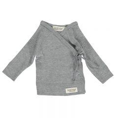 Cache-coeur en coton gris