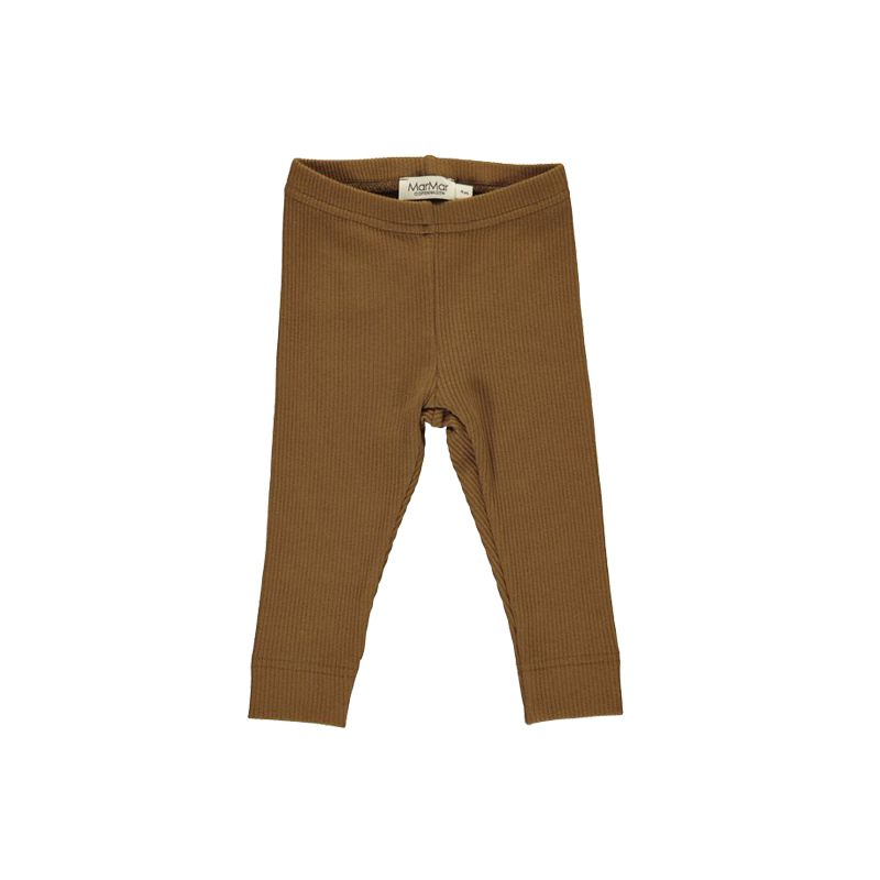 Leather cotton ribbed leggings MarMar Copenhagen