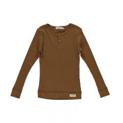 Leather cotton ribbed t-shirt MarMar Copenhagen