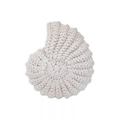 Coquillage rond en crochet cream Supcio Design